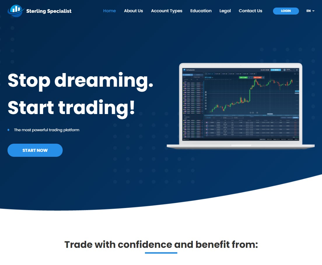 Sterling Specialist homepage